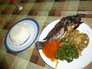 Nationalgericht Nshima (Maisbrei)
